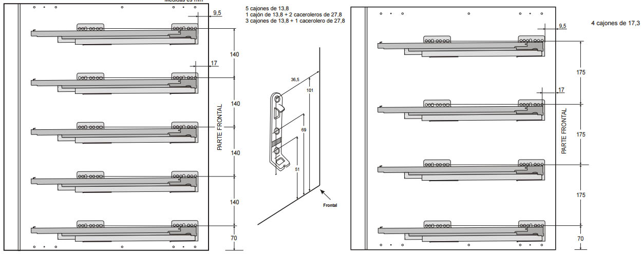 Cajones y gavetas grass nova pro para muebles de cocina for Cajones para muebles de cocina