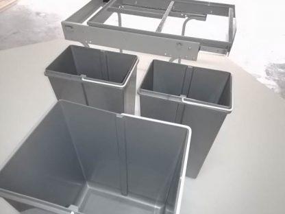 Compartimentos del cubo de 3 capacidades