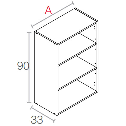 bab3a51daf09 Muebles altos para cocina de 90 cm. de altura