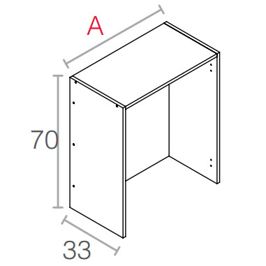 Casco escurridor de 70 cm de altura en distintos anchos for Muebles de cocina de 70 cm de ancho