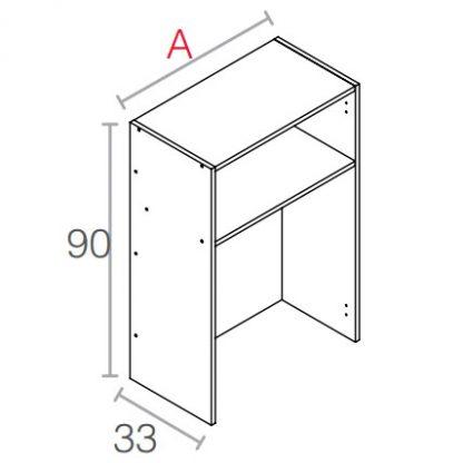 Mueble platero de 90cm. de altura