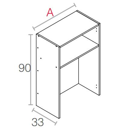 Módulo de cocina escurridor 90 cm. de altura blanco