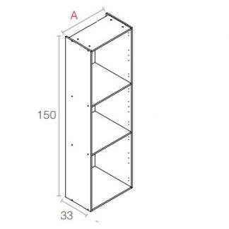 semi-columna 150cm de alto