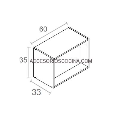 M dulo altillo 35 60 blanco fondo 33 cm for Muebles de cocina 60 cm