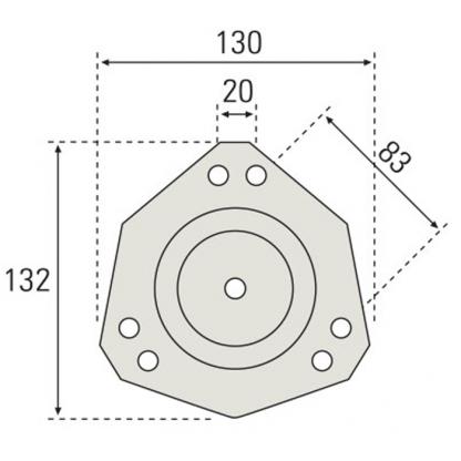Base pata mesa redonda