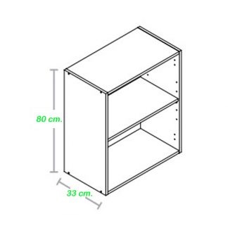 Mueble alto cocina 80 centímetros de altura
