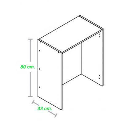 Mueble para escurreplatos 80 cm. alto