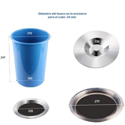 medidas cubo basura encimera